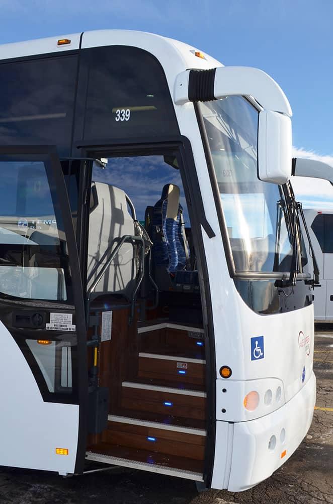 luxury charter bus
